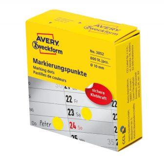 Avery Zweckform 3852 sárga színű tekercses öntapadós jelölő címke