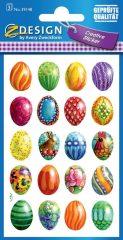Avery Zweckform Z-Design No. 39148 húsvéti papír matrica - színes húsvéti tojások motívumokkal - kiszerelés: 3 ív / csomag (Avery Z-Design 39148)