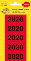 Avery Zweckform 43-220 öntapadós 2020-as évszám címke