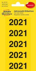 Avery Zweckform 43-221 öntapadós 2021-es évszám címke
