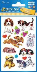 Avery Zweckform Z-Design No. 4340 papír matrica kutya motívumokkal - 3 ív / csomag (Avery Z-Design 5340)