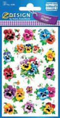 Avery Zweckform Z-Design No. 4398 öntapadó papír matrica - különféle színű virág mintával - kiszerelés: 3 ív / csomag (Avery Z-Design 4398)