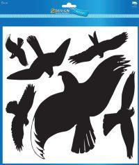 Avery Zweckform Z-Design No. 4485 öntapadó biztonsági matrica nagyméretű üvegfelületek védelmére - fekete madár alakzattal - kiszerelés: 1 ív / csomag (Avery Z-Design 4485)