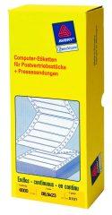 Avery Zweckform No. 5101 leporellós 88,9 x 23 mm méretű, fehér színű, 1 pályás öntapadó címke mátrix nyomtatókhoz - 6000 címke / doboz (Avery 5101)
