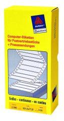 Avery Zweckform No. 5120 leporellós 101,6 x 73,8 mm méretű, fehér színű, 1 pályás öntapadó címke mátrix nyomtatókhoz - 2000 címke / doboz (Avery 5120)