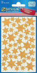 Avery Zweckform Z-Design No. 52225 karácsonyi csillogó papír matrica - arany színű csillagok mintával - kiszerelés: 2 ív / csomag (Avery Z-Design 52225)