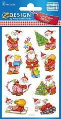 Avery Zweckform Z-Design No. 52266 karácsonyi papír matrica - mókás télapók mintával - kiszerelés: 3 ív / csomag (Avery Z-Design 52266)