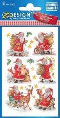 Avery Zweckform Z-Design No. 52402 karácsonyi csillogó papír matrica - ajándékozó Mikulás mintával - kiszerelés: 2 ív / csomag (Avery Z-Design 52402)