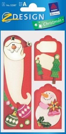 Avery Zweckform Z-Design No. 52587 karácsonyi kollázs matrica - télapó motívumokkal - kiszerelés: 1 ív / csomag (Avery Z-Design 52587)