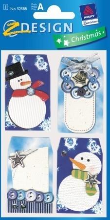 Avery Zweckform Z-Design No. 52588 karácsonyi kollázs matrica - hóember motívumokkal - kiszerelés: 1 ív / csomag (Avery Z-Design 52588)
