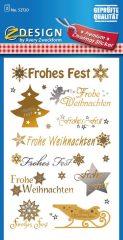 """Avery Zweckform Z-Design No. 52720 karácsonyi átlátszó matrica - """"Frohes Fest, Frohe Weihnachten"""" felirattal - kiszerelés: 2 ív / csomag (Avery Z-Design 52720)"""