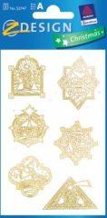 Avery Zweckform Z-Design No. 52747 karácsonyi aranyozott papír matrica - díszes motívumokkal - kiszerelés: 2 ív / csomag (Avery Z-Design 52747)