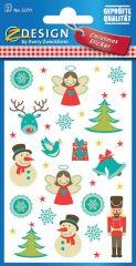 Avery Zweckform Z-Design No. 52771 öntapadó papír matrica - karácsonyi figurák motívumokkal - kiszerelés: 2 ív / csomag (Avery Z-Design 52771)