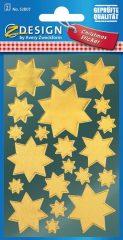 Avery Zweckform Z-Design No. 52807 magasfényű, öntapadó fólia matrica - arany színű csillagokkal - kiszerelés: 2 ív / csomag (Avery Z-Design 52807)