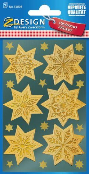 Avery Zweckform Z-Design No. 52808 magasfényű, öntapadó fólia matrica - arany színű csillagokkal - kiszerelés: 2 ív / csomag (Avery Z-Design 52808)