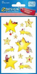 Avery Zweckform Z-Design No. 52872 öntapadó karácsonyi papír matrica - csillagok motívumokkal - kiszerelés: 2 ív / csomag (Avery Z-Design 52872)