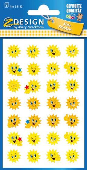 Avery Zweckform Z-Design No. 53133 öntapadó papír matrica - napocskás motivációs képekkel - kiszerelés: 2 ív / csomag (Avery Z-Design 53133)