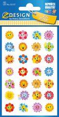 Avery Zweckform Z-Design No. 53137 öntapadó papír matrica - virágfejek motivációs képekkel - kiszerelés: 2 ív / csomag (Avery Z-Design 53137)