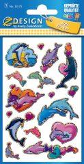Avery Zweckform Z-Design No. 53175 öntapadó fólia matrica - delfin képekkel - kiszerelés: 1 ív / csomag (Avery Z-Design 53175)