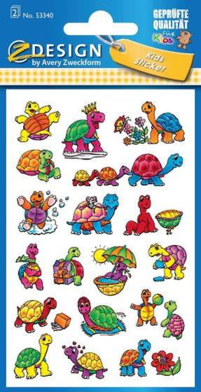 Avery Zweckform Z-Design No. 53340 csillogó papír matrica teknősbéka motívumokkal - 2 ív / csomag (Avery Z-Design 53340)