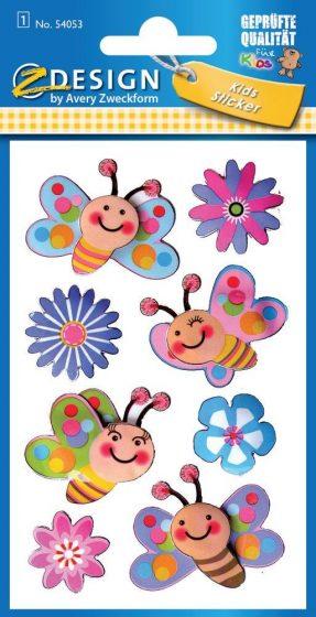 Avery Zweckform Z-Design No. 54053 3D hatású matrica virág és méhecske motívumokkal - 1 ív / csomag (Avery Z-Design 54053)