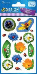 Avery Zweckform Z-Design No. 54116 öntapadó papír matrica - mezei virágok mintával - kiszerelés: 3 ív / csomag (Avery Z-Design 54116)