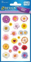 Avery Zweckform Z-Design No. 54117 öntapadó papír matrica - vegyes virágok mintával - kiszerelés: 3 ív / csomag (Avery Z-Design 54117)