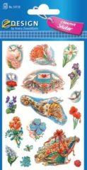 Avery Zweckform Z-Design No. 54118 öntapadó papír matrica - díszes virágcsokrok mintával - kiszerelés: 3 ív / csomag (Avery Z-Design 54118)