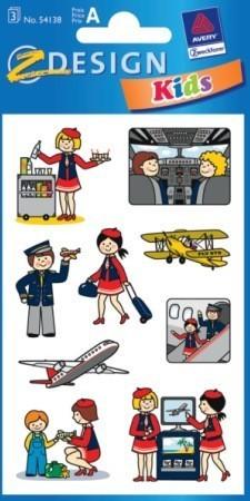 Avery Zweckform Z-Design No. 54138 öntapadó papír matrica - élet a repülőgépen képekkel - kiszerelés: 3 ív / csomag (Avery Z-Design 54138)