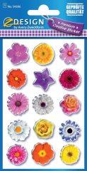 Avery Zweckform Z-Design No. 54386 öntapadó papír matrica - színes virágok motívumokkal - kiszerelés: 1 ív / csomag (Avery Z-Design 54386)