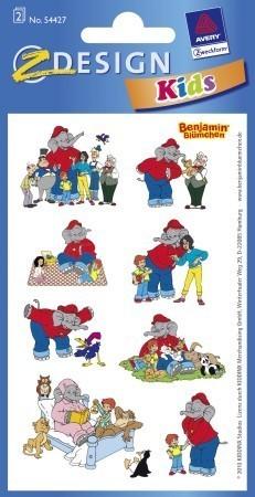 Avery Zweckform Z-Design No. 54427 öntapadó papír matrica - Benjámin elefánt mintákkal - kiszerelés: 2 ív / csomag (Avery Z-Design 54427)