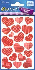 Avery Zweckform Z-Design No. 55595 öntapadó papír matrica - szívek képekkel - kiszerelés: 2 ív / csomag (Avery Z-Design 55595)