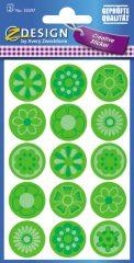 Avery Zweckform Z-Design No. 55597 öntapadó papír matrica - zöld virágok képekkel - kiszerelés: 2 ív / csomag (Avery Z-Design 55597)