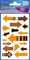 Avery Zweckform Z-Design No. 55598 öntapadó papír matrica - nyilak képekkel - kiszerelés: 2 ív / csomag (Avery Z-Design 55598)