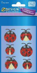 Avery Zweckform Z-Design No. 55644 csillogó varázslatos matrica - katicabogár mintával - kiszerelés: 1 ív / csomag (Avery Z-Design 55644)