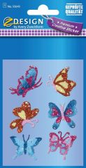 Avery Zweckform Z-Design No. 55645 csillogó varázslatos matrica - színes pillangó mintával - kiszerelés: 1 ív / csomag (Avery Z-Design 55645)