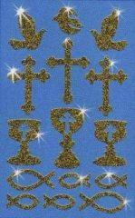 Avery Zweckform Z-Design No. 55805 csillogó varázslatos matrica - keresztény jelképekkel - kiszerelés: 1 ív / csomag (Avery Z-Design 55805)