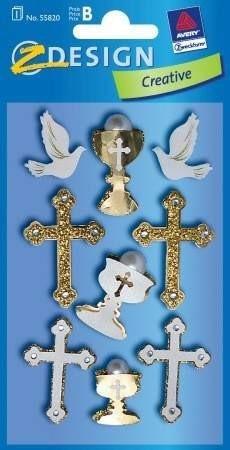 Avery Zweckform Z-Design No. 55820 kollázs matrica keresztény jelkép motívumokkal - 1 ív / csomag (Avery Z-Design 55820)
