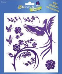 Avery Zweckform Z-Design No. 55886 átlátszó matrica falak, szobák, bútorok díszítésére - rózsaszín madár motívummal - kiszerelés: 1 ív / csomag (Avery Z-Design 55886)