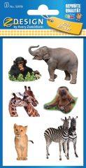 Avery Zweckform Z-Design No. 55978 öntapadó papír matrica - állatkerti kölykök mintával - kiszerelés: 3 ív / csomag (Avery Z-Design 55978)