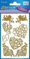 Avery Zweckform Z-Design No. 55995 aranyozott, öntapadó fólia matrica - szerelmes motívumokkal - kiszerelés: 1 ív / csomag (Avery Z-Design 55995)