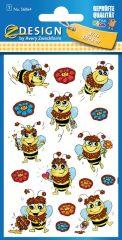 Avery Zweckform Z-Design No. 56064 csillogó, öntapadó fólia matrica - virágok és méhecskék motívumokkal - kiszerelés: 1 ív / csomag (Avery Z-Design 56064)