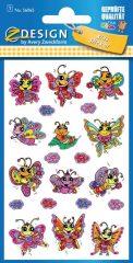 Avery Zweckform Z-Design No. 56065 csillogó, öntapadó fólia matrica - virágok és pillangók motívumokkal - kiszerelés: 1 ív / csomag (Avery Z-Design 56065)