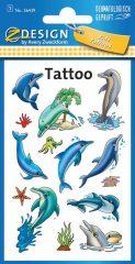 Avery Zweckform Z-Design No. 56439 öntapadó tetoválás matrica - delfinek és tengeri állatok motívumokkal - kiszerelés: 1 ív / csomag (Avery Z-Design 56439)