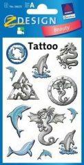Avery Zweckform Z-Design No. 56635 tattoo (tetoválás) matrica delfin motívumokkal - 1 ív / csomag (Avery Z-Design 56635)