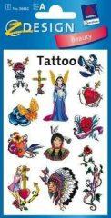 Avery Zweckform Z-Design No. 56662 tattoo (tetoválás) matrica vegyes motívumokkal - 1 ív / csomag (Avery Z-Design 56662)