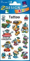Avery Zweckform Z-Design No. 56668 tattoo (tetoválás) matrica robotok motívumokkal - 1 ív / csomag (Avery Z-Design 56668)
