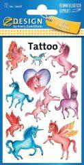 Avery Zweckform Z-Design No. 56669 öntapadó tetoválás matrica - unikornisok motívumokkal - kiszerelés: 1 ív / csomag (Avery Z-Design 56669)