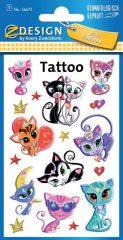 Avery Zweckform Z-Design No. 56675 öntapadó tetoválás matrica - cicák, macskák motívumokkal - kiszerelés: 1 ív / csomag (Avery Z-Design 56675)