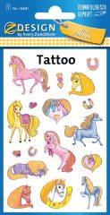 Avery Zweckform Z-Design No. 56681 öntapadó tetoválás matrica - színes lovak motívumokkal - kiszerelés: 1 ív / csomag (Avery Z-Design 56681)